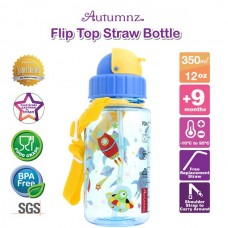 Autumnz - Flip Top Straw Bottle 350ml /12oz - Outer Space