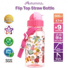 Autumnz - Flip Top Straw Bottle 500ml /17oz - Garden of Dreams