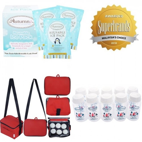db97c3c1d9 Autumnz - Fun Breast Milk Storage Solution Pack G - (Fun Cooler Bag ...