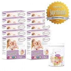 Autumnz - Double Zip-Lock Breast Milk Storage Bag  *5oz* (28 bags) - 10 PACKS